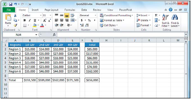closing the microsoft excel 2010 workbook