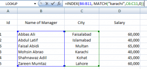 index and match