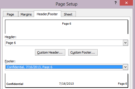how to set up mla header and footer
